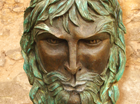 The Green man is the medieval Spirit of Nature. He is suitable to hang on a wall and once connected to a small pump, water will spout from his mouth to the pond below. He has a fierce but good natured face and leaves for his hair and beard! The pipe work in the back is included.