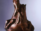 An action filled study of two entwined Horses. Patinated in a mid bronze with  highlights.